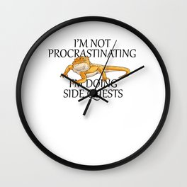 Im Not Procrasting RPG Cube Role Playing Game Wall Clock
