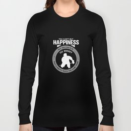 Ice Hockey Gift You Can't Buy Happiness But You Can Play Ice Hockey That's Pretty Much The Same Thin Long Sleeve T-shirt
