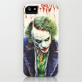 """The Joker """"Why so serious?"""" iPhone Case"""