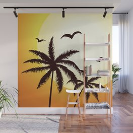 SUMMER PALM TREES Wall Mural