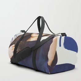 Jenny Gold and Blue Abstract Duffle Bag