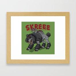 Parasite Poodle Framed Art Print