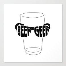 Beer Geek Canvas Print