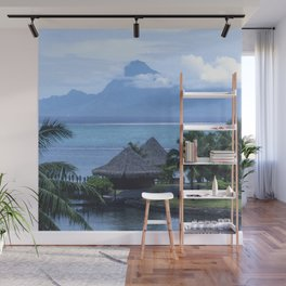 Romantic Vacation in Exotic French Polynesia Wall Mural