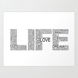 Life in black & white Art Print