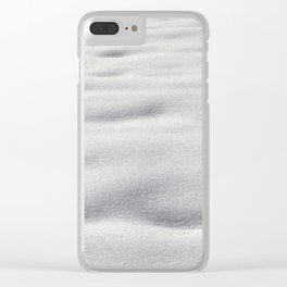 Texture #9 Snow Clear iPhone Case