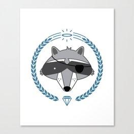 Mr. Raccoon Canvas Print