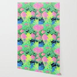 Fluorescent Golden Smoke Tree Garden Wallpaper