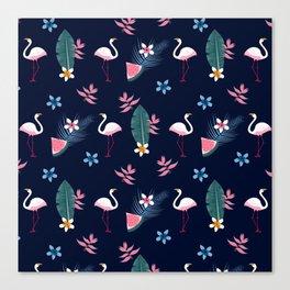 Flamingo Pattern 4 Canvas Print