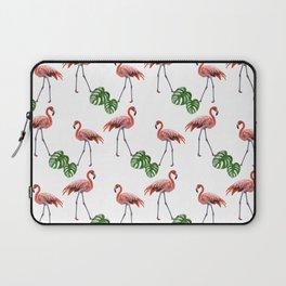 Flamingo & monstera pattern Laptop Sleeve
