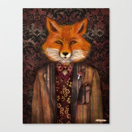 Portrait of the mysterious Lord Fox Canvas Print