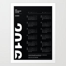 2016 Calendar | Dark Art Print