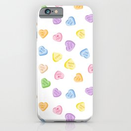 Heart Candy Pattern iPhone Case