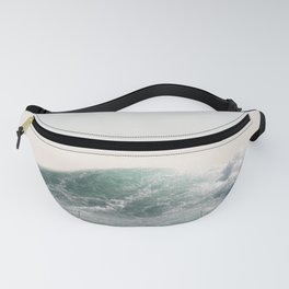 Waves and Sunrise Happy Summer Photography Ocean Beach Vibes Tropical Water Sea Fanny Pack