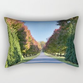 Image USA Nemours Mansion and Gardens Avenue Nature Parks Trees Allee park Rectangular Pillow