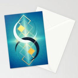 Floating Geometry :: Crescent Moons Stationery Cards