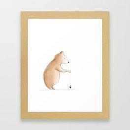 Bear with Yoyo Framed Art Print