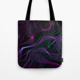 Neon Spins Tote Bag