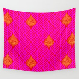 PLANTAIN PALACE - RED/PINK/ORANGE Wall Tapestry