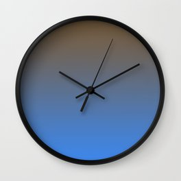 Brown and Blue Gradient 013 Wall Clock