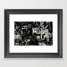 Abstract b+w Framed Art Print