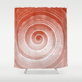 coquillage rouge forme Shower Curtain