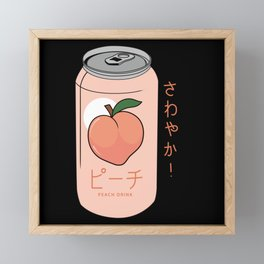 Peach Drink Peach Ginger Ale Aesthetic Framed Mini Art Print