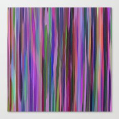 Swimming Stripes, Purple Canvas Print