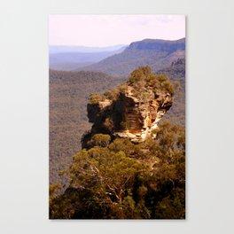 Blue Mountains Rockface Canvas Print