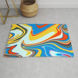 Colorful Marble Abstract Art Pattern 003 Rug