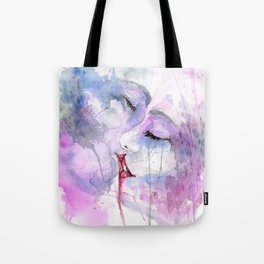 """Watercolor Painting of Picture """"Passion"""" Tote Bag"""