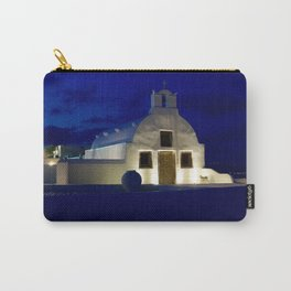 Santorini Chapel During Sunrise  Carry-All Pouch