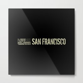 Black Flag: San Francisco Metal Print