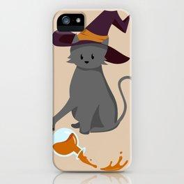 Mischievous Witch's Cat iPhone Case