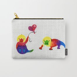 Little Rainbow Platypus Carry-All Pouch