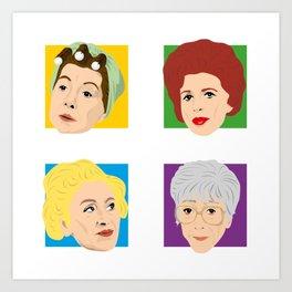 Coronation Street - Hilda, Elsie, Annie and Blanche Art Print