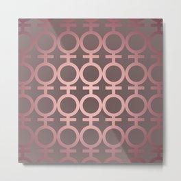 Feminist As Fuck Pink Gradient Vector Pattern Metal Print