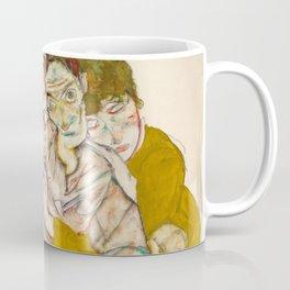 "Egon Schiele ""Seated Couple"" Coffee Mug"