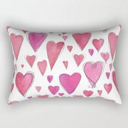 Watercolor My Heart (Large) by Deirdre J Designs Rectangular Pillow