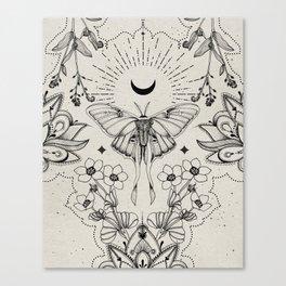 Bohemian Luna Moth Canvas Print