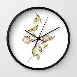 Dancing Roses Wall Clock