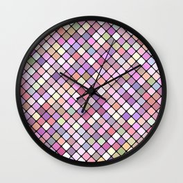 Happy Square Grid Wall Clock