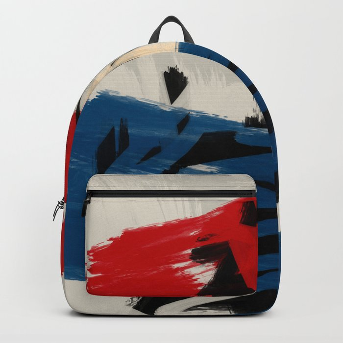 French Expressionist Abstract Art Rucksack