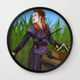 Siv the Harvester Wall Clock