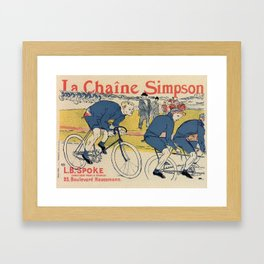 Toulouse-Lautrec vintage cycling ad Framed Art Print