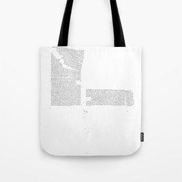Erosion & Typography 4 Tote Bag