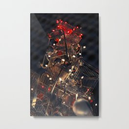 Shopping Cart Christmas Tree in Hollywood - day two color Metal Print