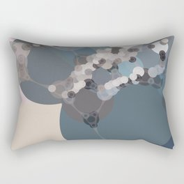rihanna - abstract shades of blue pewter grey linen beige and pink Rectangular Pillow