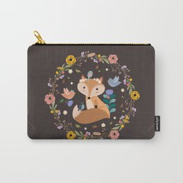 Little Princess Fox With Friends And Foliage Carry-All Pouch