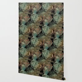 Roses in abstract shapes Wallpaper